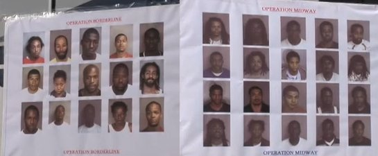 Some of the 40 blacks busted on drug charges