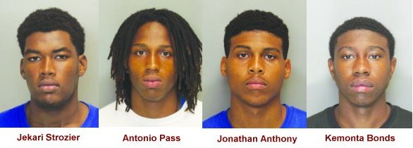 Jekari Strozier, Antonio Pass, Jonathan Anthony, and Kemonta Bonds