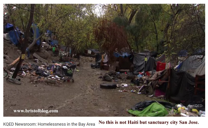 Filth and Homelessness in San Jose.
